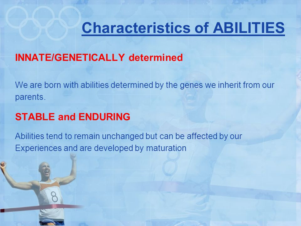 Characteristics of ABILITIES