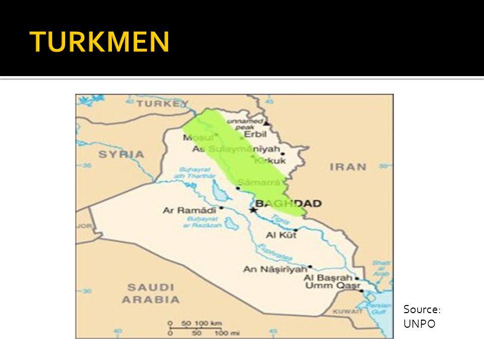 TURKMEN Location: Mainly northwest of Iraq. Erbil, TEL AFAR Mosul, Kirkuk, Salahadin. KURDIIFCATION- DISPUTED LAND AND LAND GRABBING.