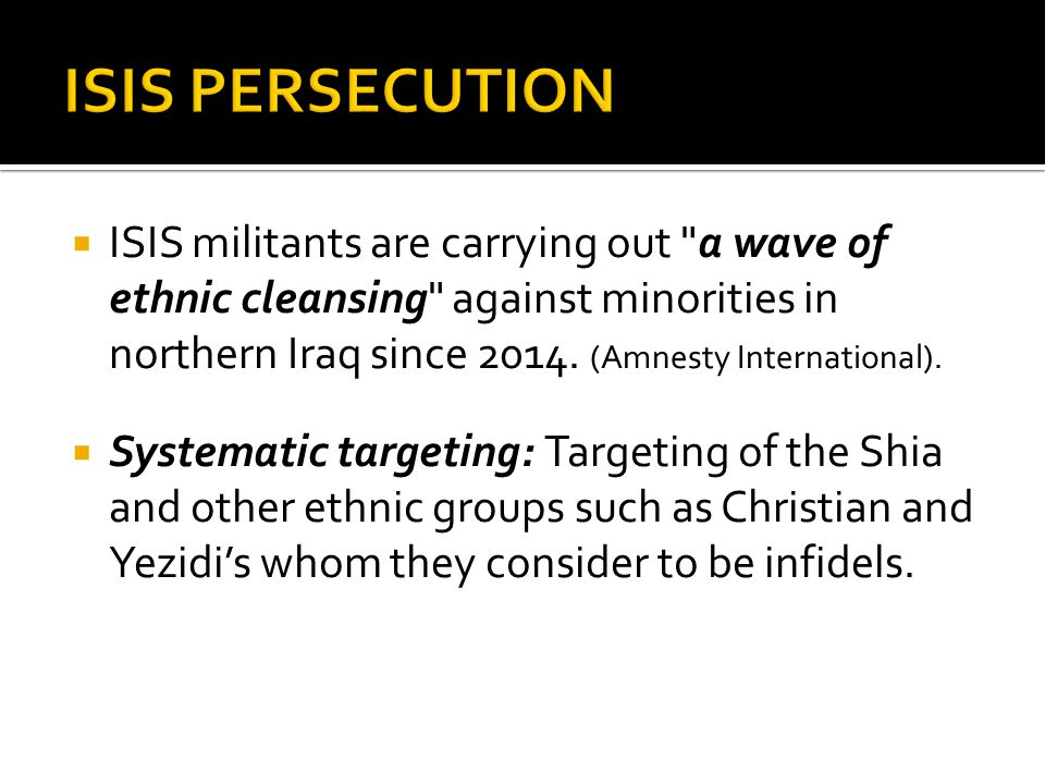 ISIS PERSECUTION