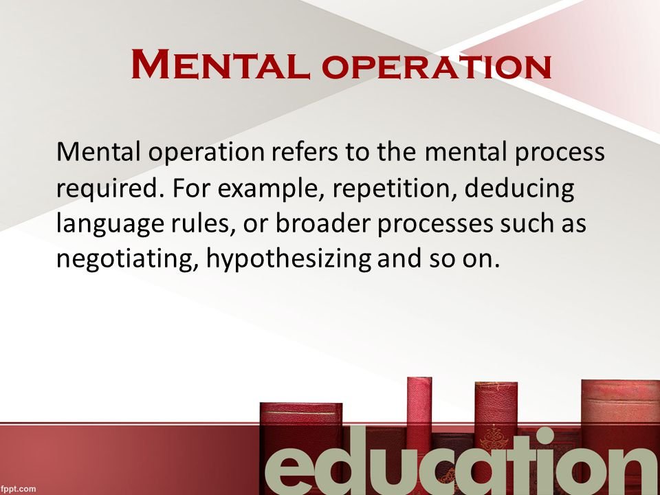 Mental operation