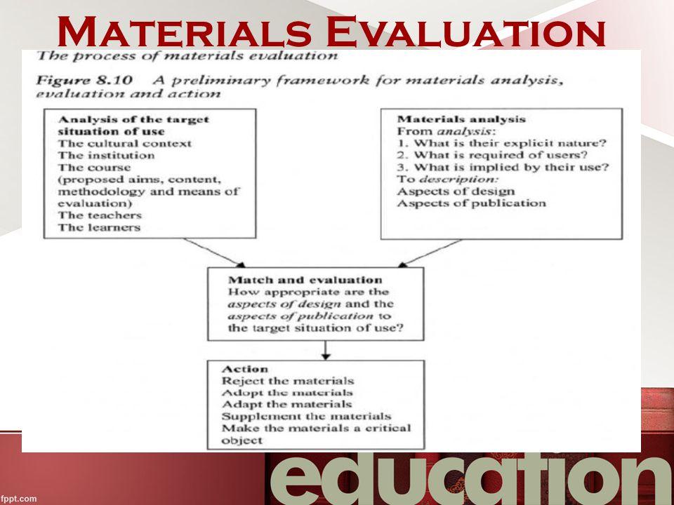 Materials Evaluation