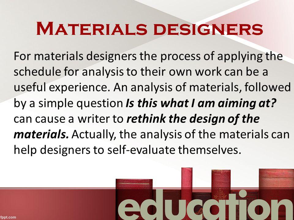 Materials designers