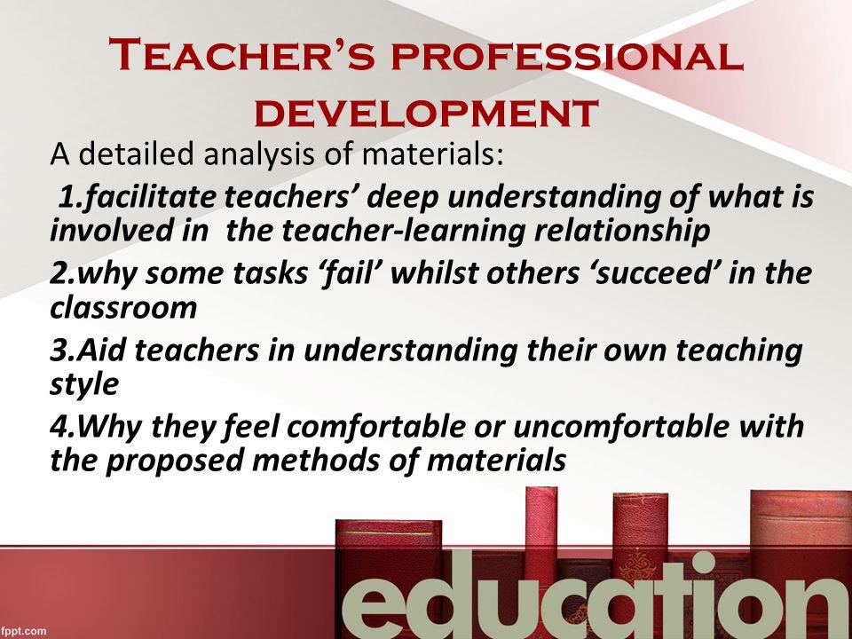 Teacher's professional development