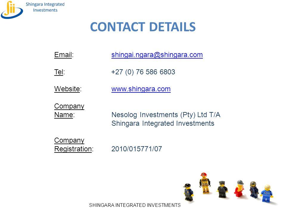 CONTACT DETAILS Email: shingai.ngara@shingara.com