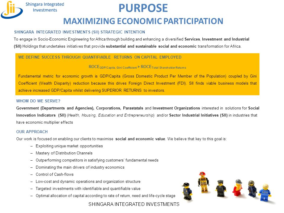 PURPOSE MAXIMIZING ECONOMIC PARTICIPATION