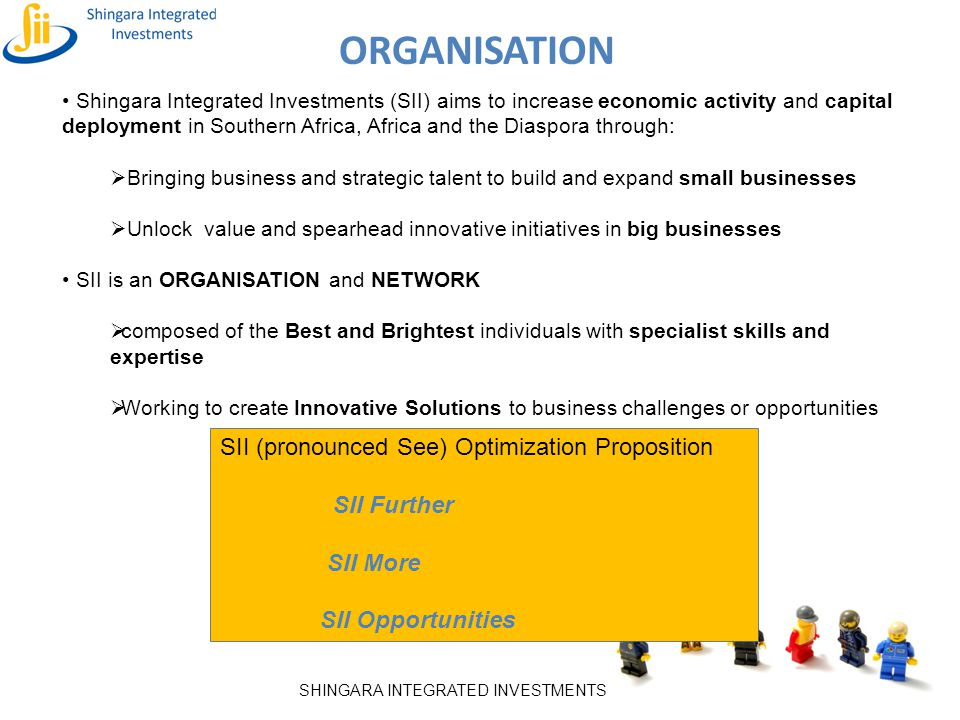 Organisation SII (pronounced See) Optimization Proposition SII Further