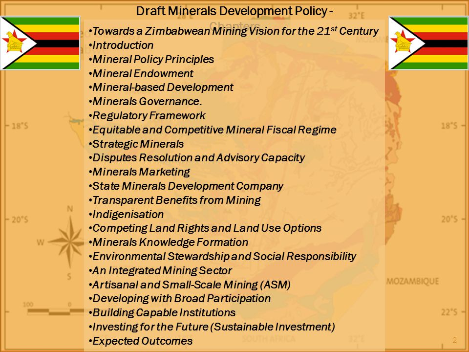 Draft Minerals Development Policy - Chapters