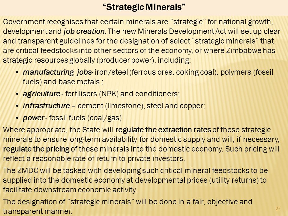 Strategic Minerals