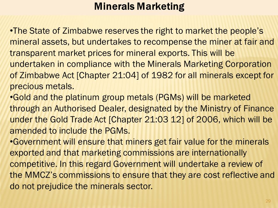 Minerals Marketing