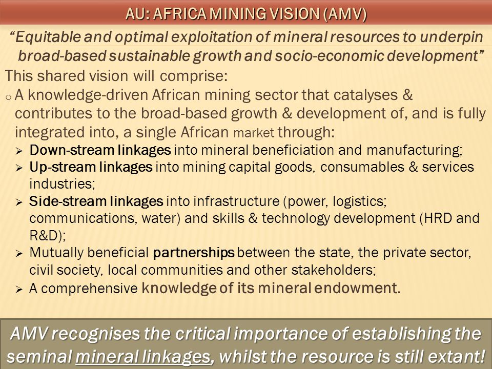 AU: Africa Mining Vision (AMV)