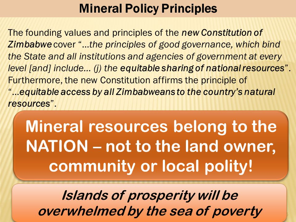 Mineral Policy Principles