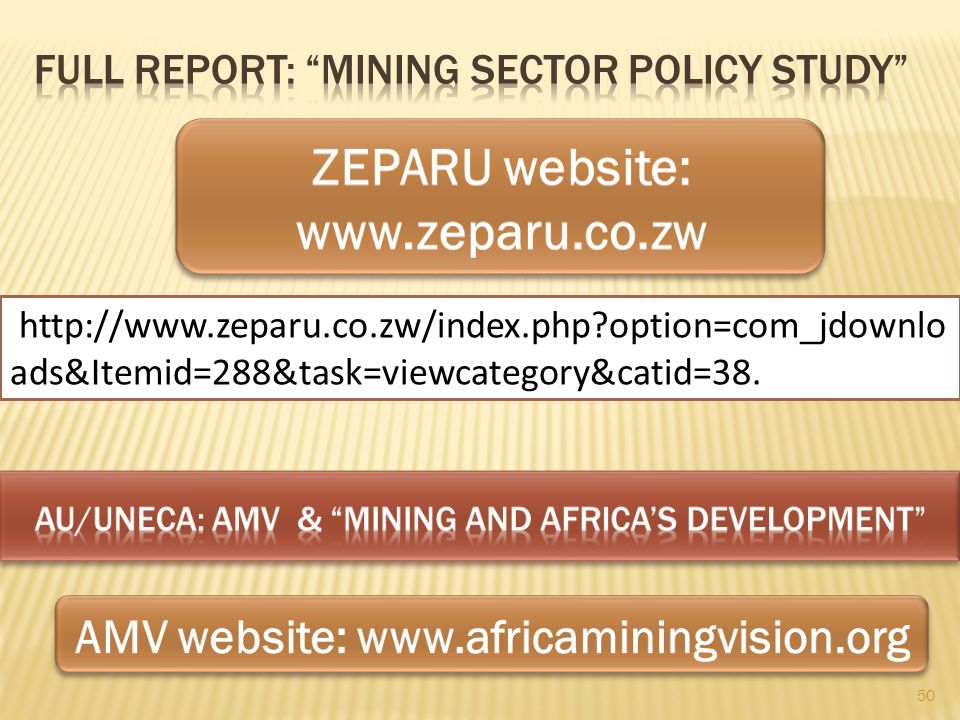 Full Report: Mining Sector Policy Study