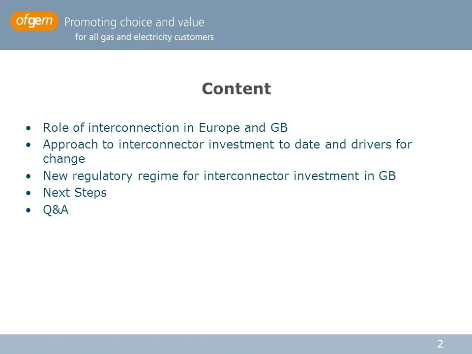 Content Role of interconnection in Europe and GB