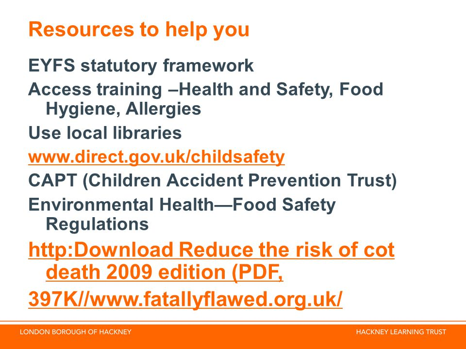 http:Download Reduce the risk of cot death 2009 edition (PDF,
