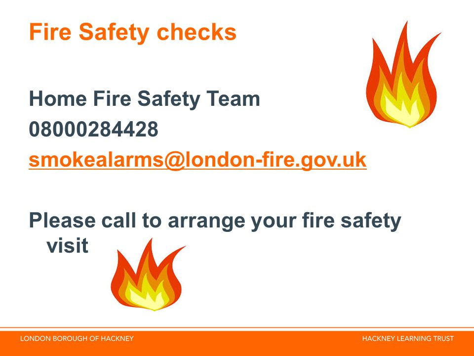 Fire Safety checks Home Fire Safety Team 08000284428