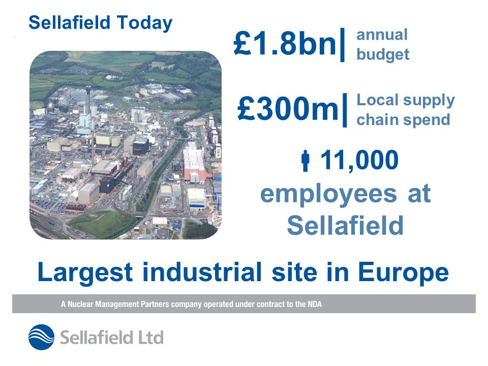 11,000 employees at Sellafield Largest industrial site in Europe