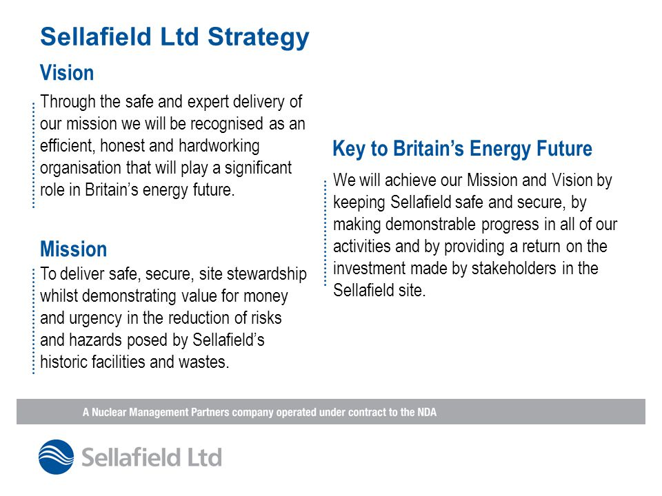 Sellafield Ltd Strategy