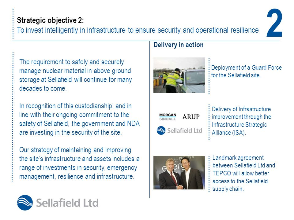 2 Strategic objective 2: To invest intelligently in infrastructure to ensure security and operational resilience.