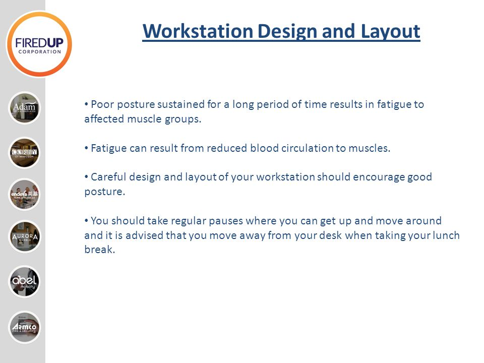 Workstation Design and Layout