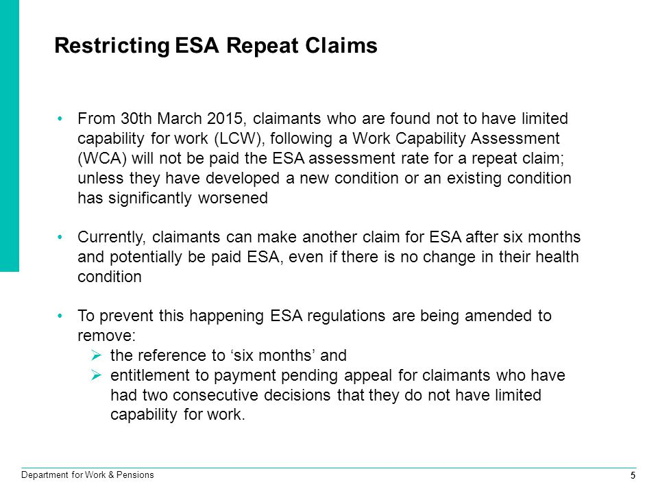 Restricting ESA Repeat Claims