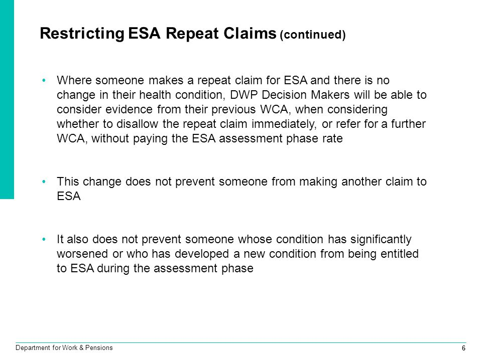 Restricting ESA Repeat Claims (continued)