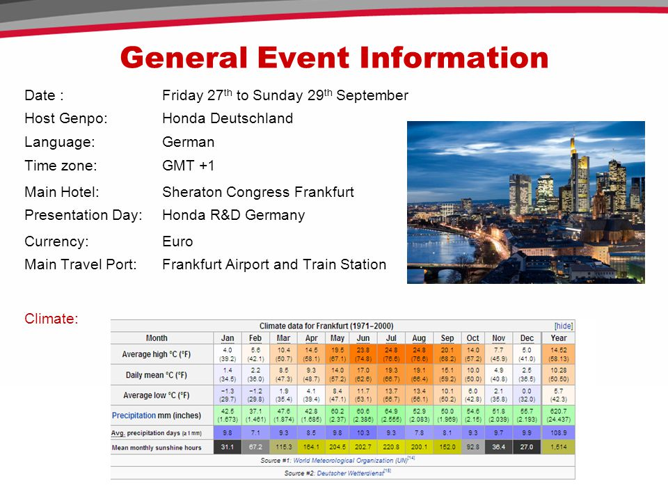 General Event Information