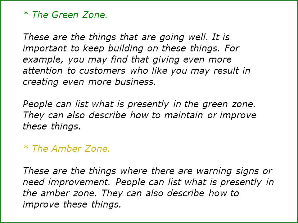 * The Green Zone.