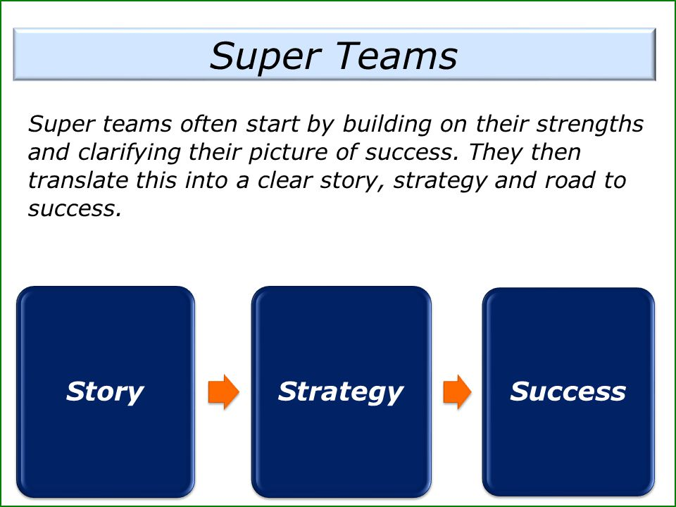 Super Teams Story Strategy Success