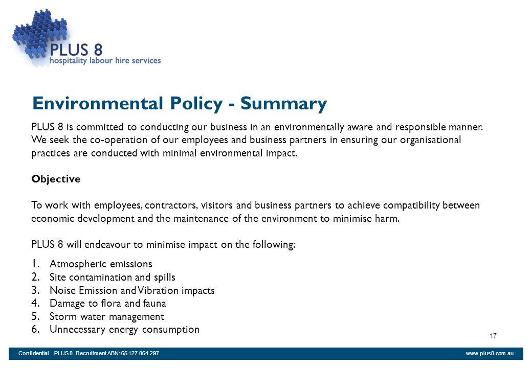 Environmental Policy - Summary