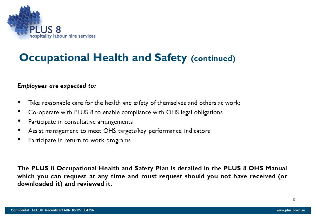 Occupational Health and Safety (continued)