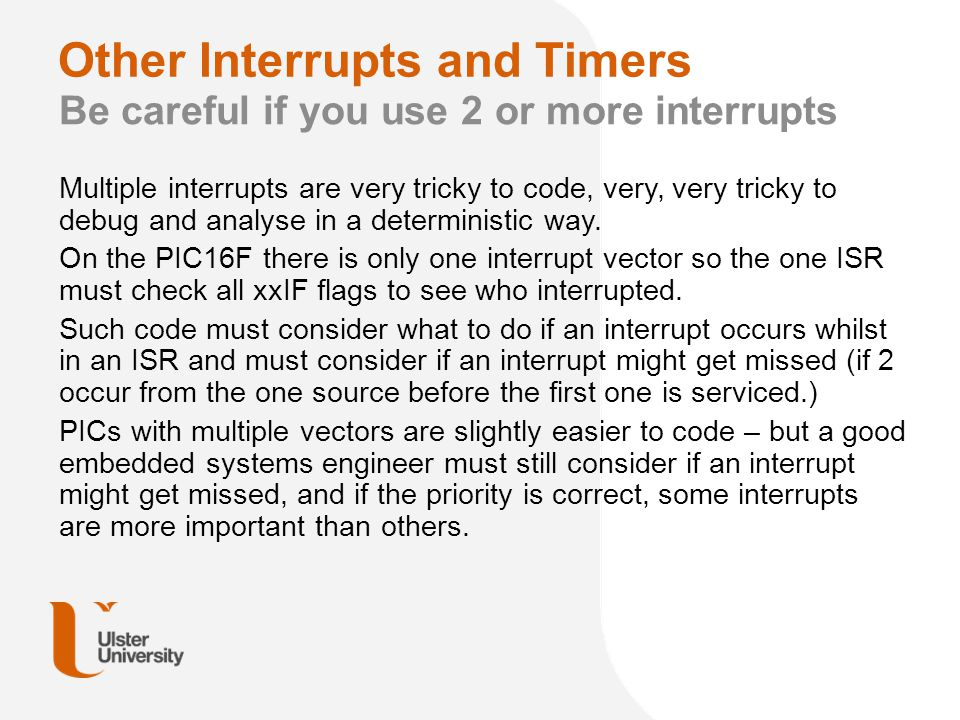 Other Interrupts and Timers