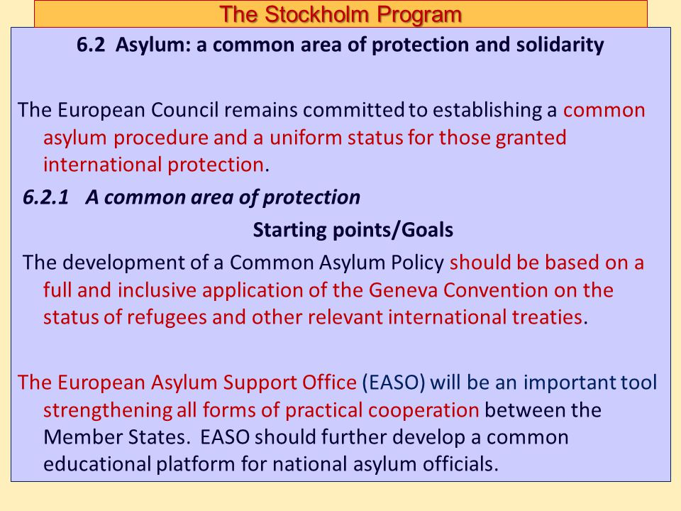 The Stockholm Program