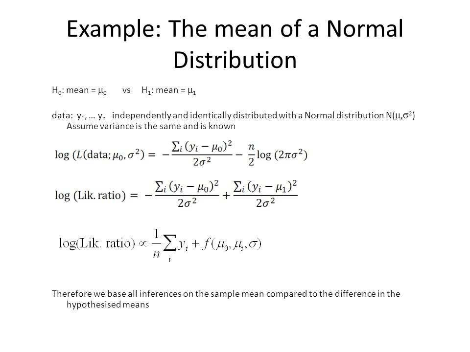 Example: The mean of a Normal Distribution