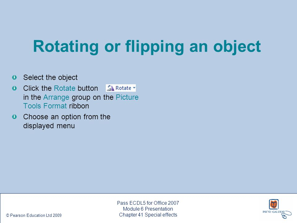 Rotating or flipping an object