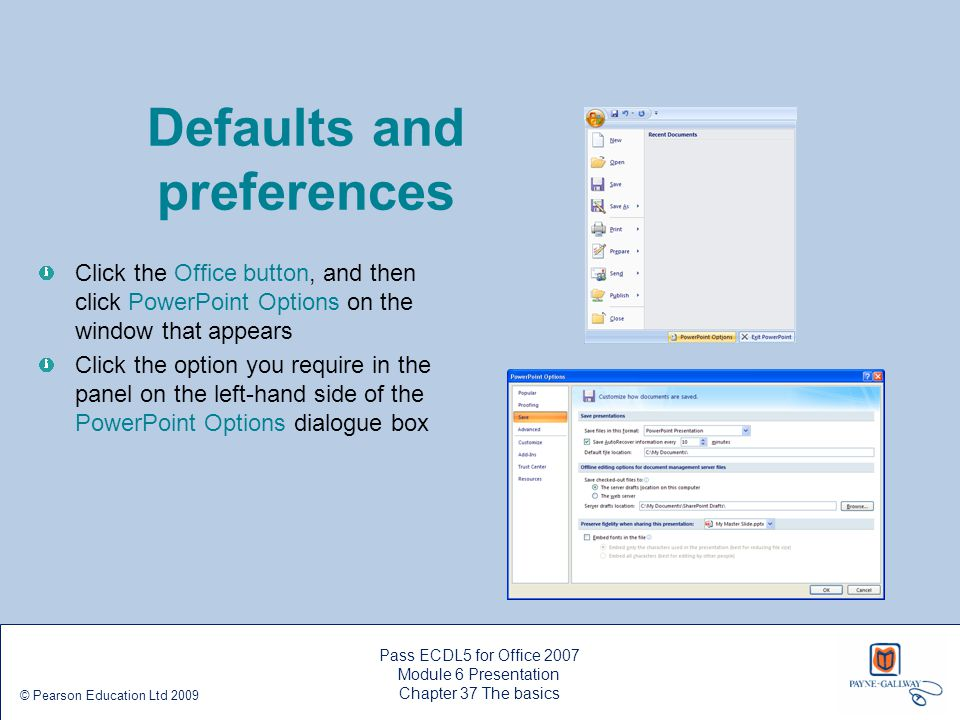 Defaults and preferences