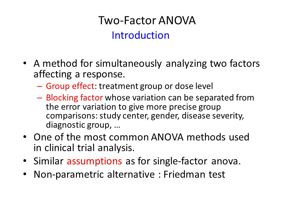 Two-Factor ANOVA Introduction