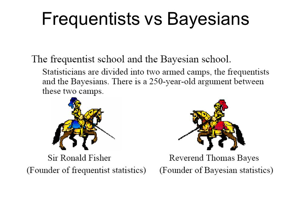 Frequentists vs Bayesians