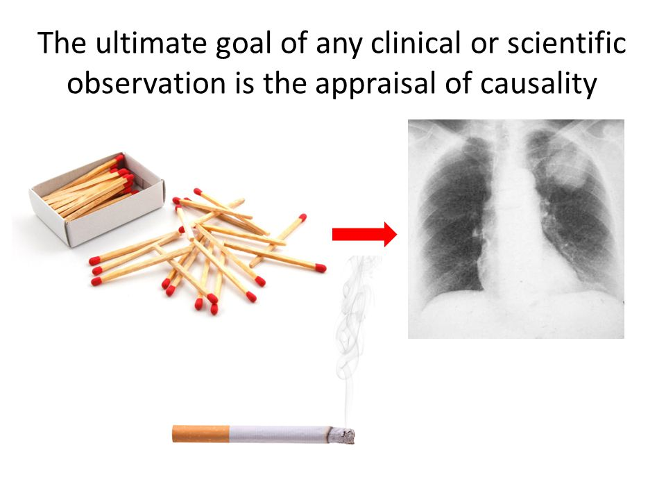 The ultimate goal of any clinical or scientific observation is the appraisal of causality