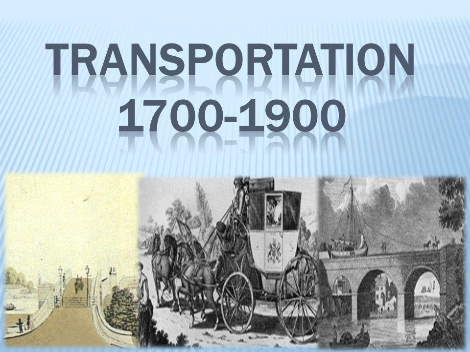 Transportation 1700-1900