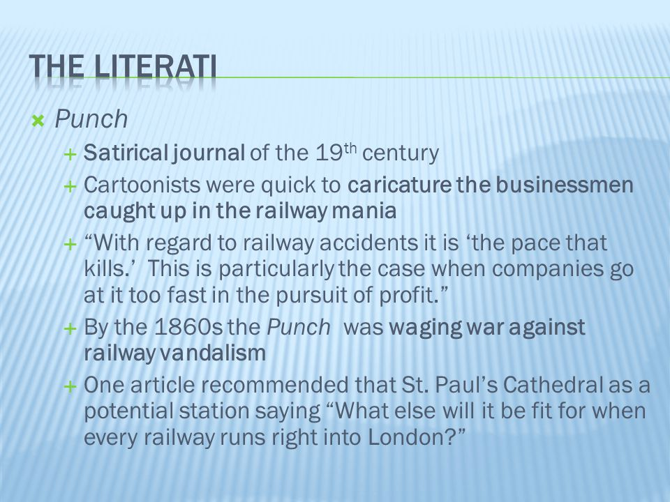 The literati Punch Satirical journal of the 19th century