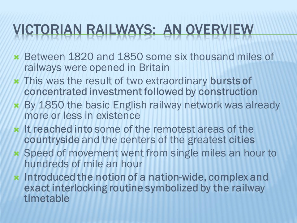 Victorian Railways: An OVerview