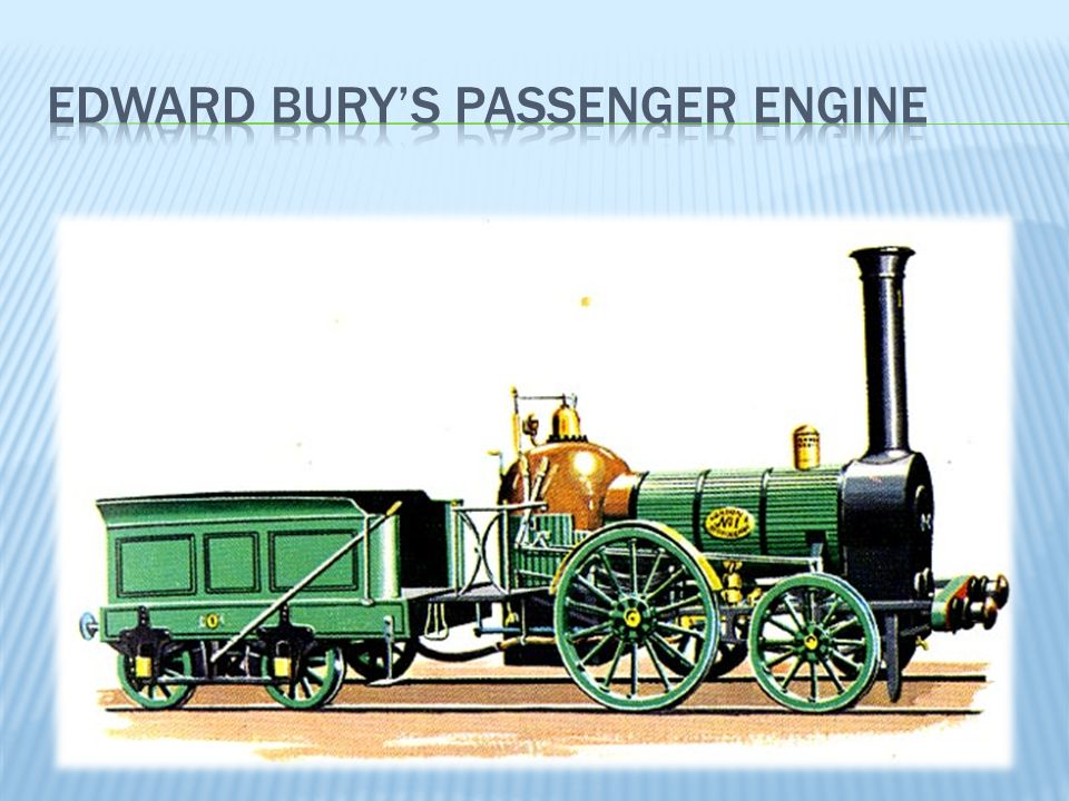 Edward bury's passenger engine