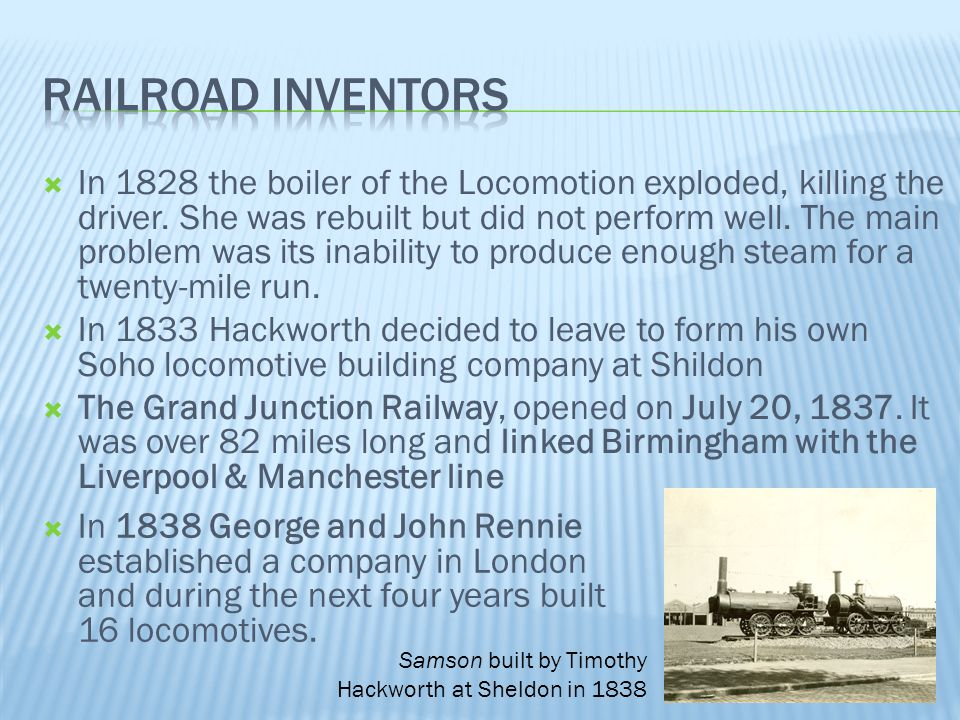 Railroad Inventors