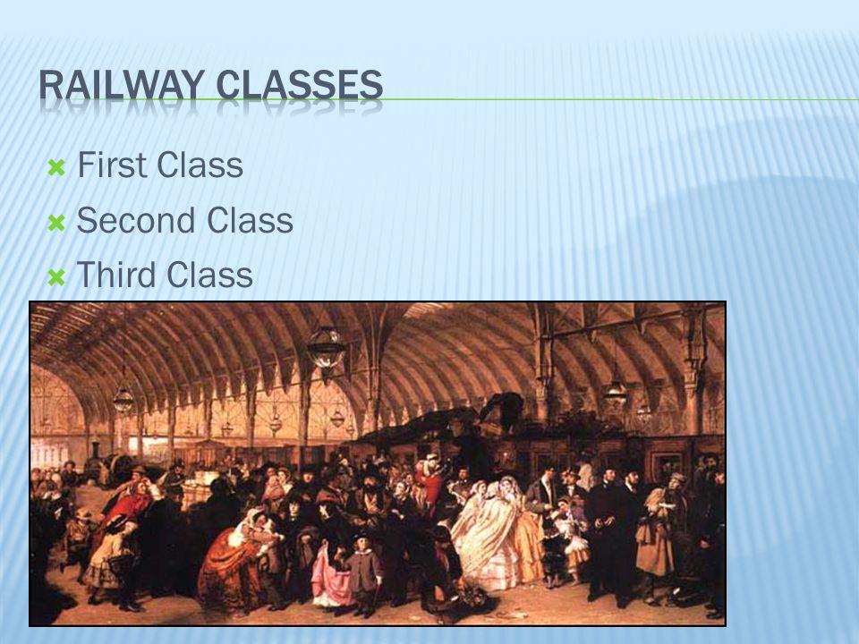Railway Classes First Class Second Class Third Class