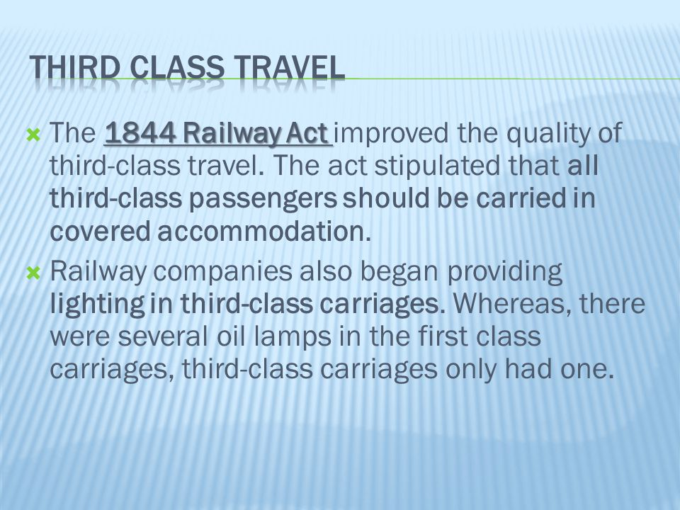 Third class travel