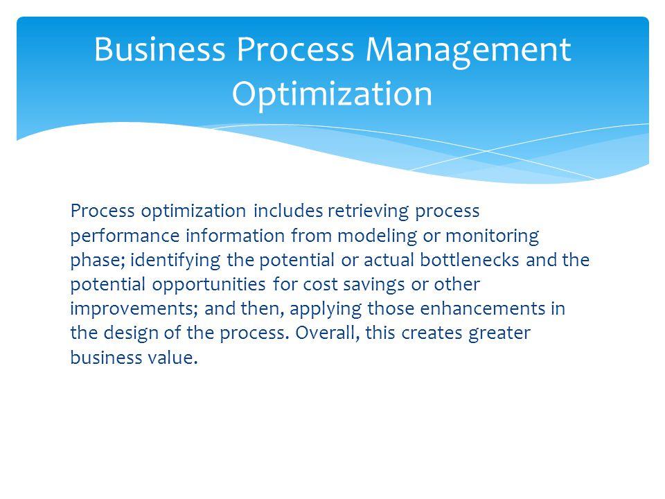 Business Process Management Optimization