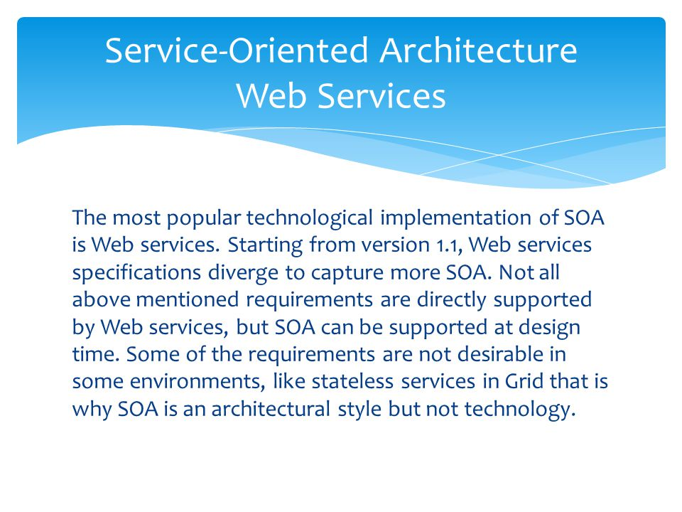 Service-Oriented Architecture Web Services
