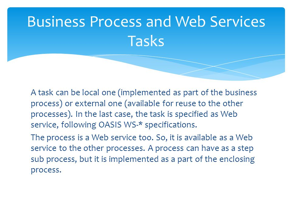 Business Process and Web Services Tasks