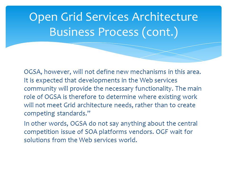 Open Grid Services Architecture Business Process (cont.)