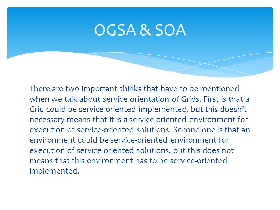 OGSA & SOA